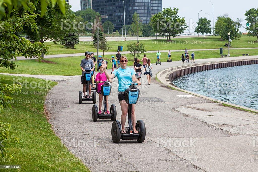 Chicago Waterfront Tour stock photo