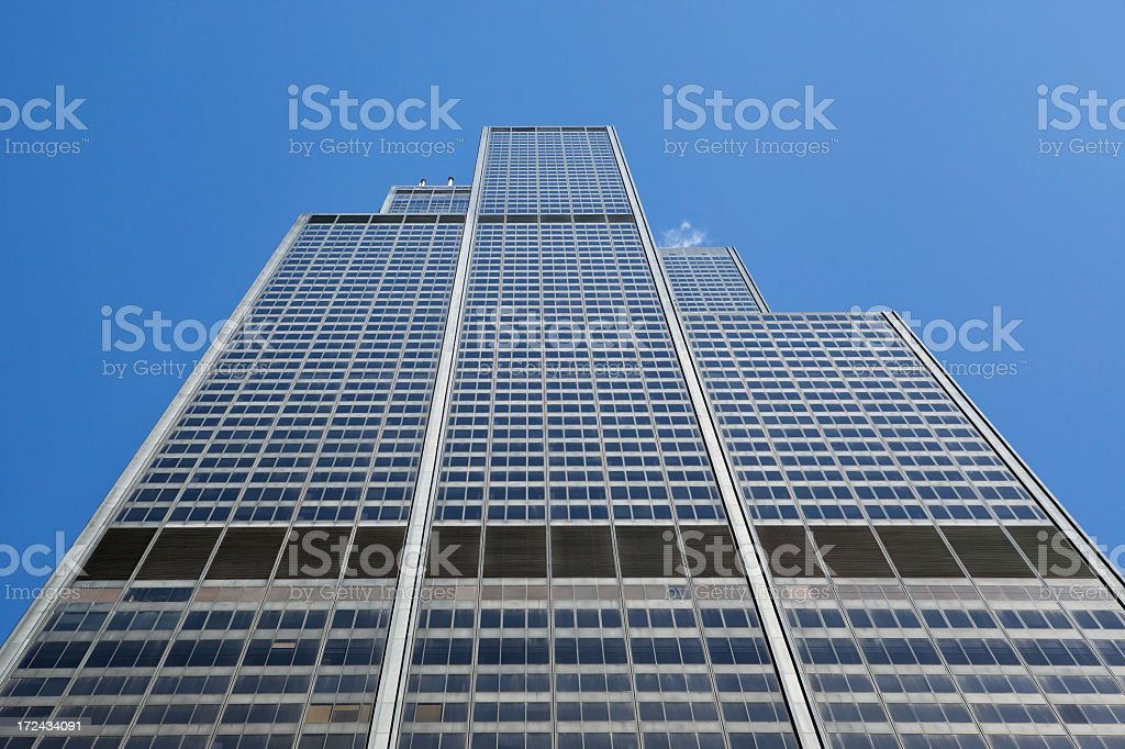 Chicago Willis Tower Side Looking Up royalty-free stock photo