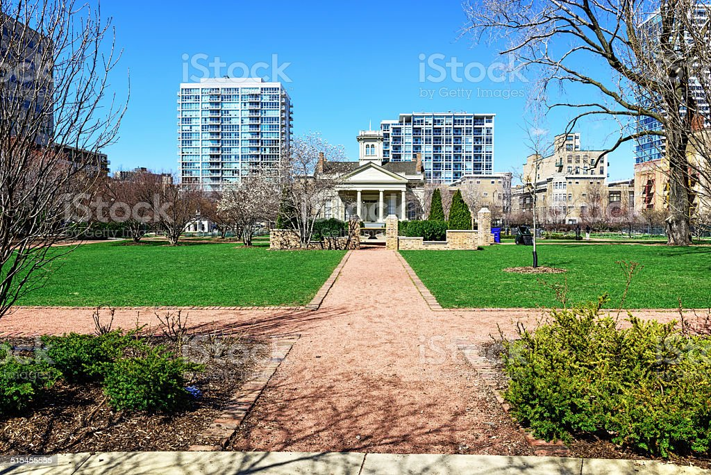 Chicago Womens Park and Gardens stock photo