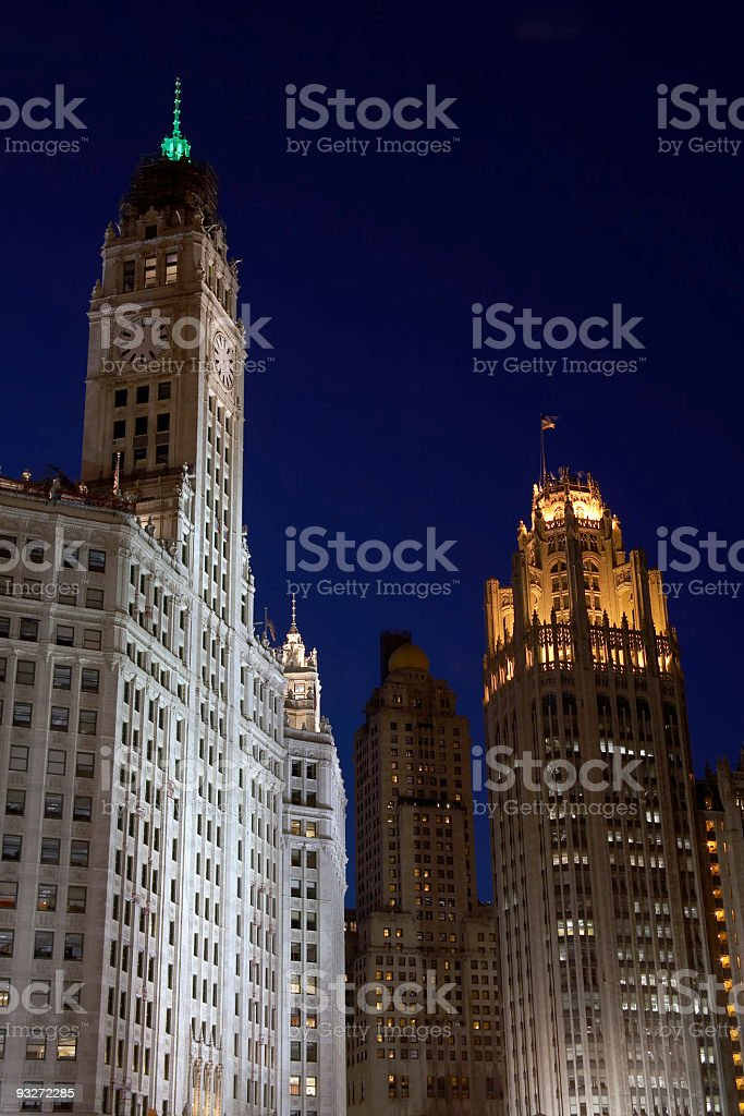 Chicago - Wrigley & Tribune Buildings royalty-free stock photo