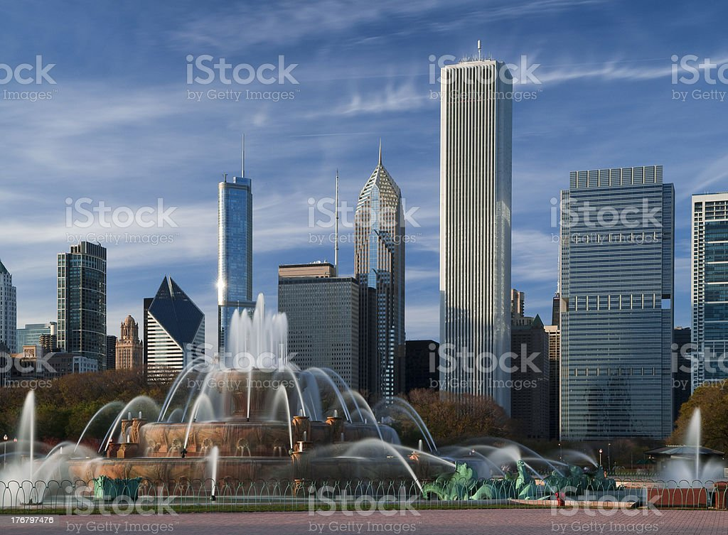 Chicago,Buckingham Fountain stock photo
