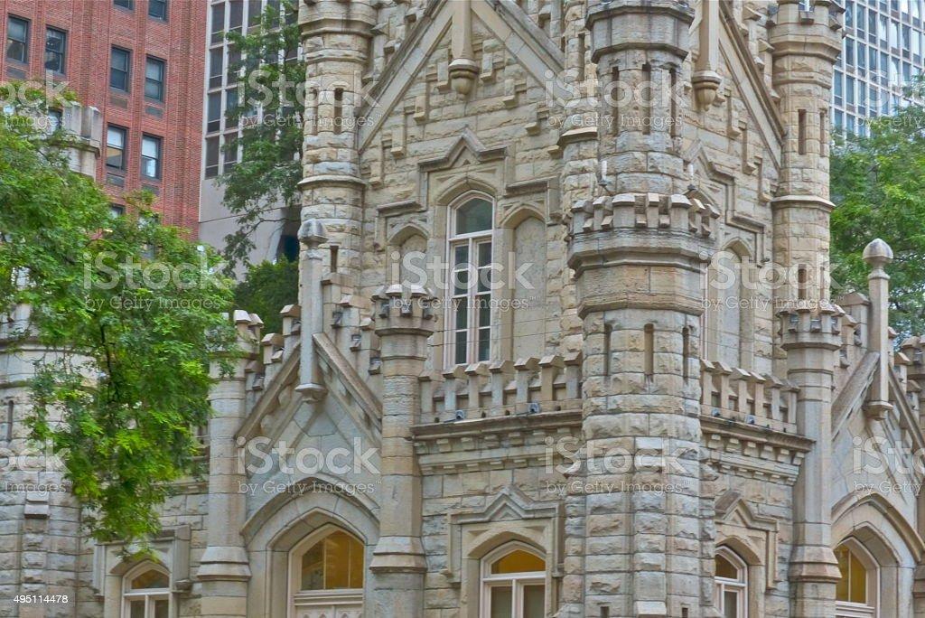 Chicago-Historic Water Tower, Château d'eau, Tour, Eau stock photo