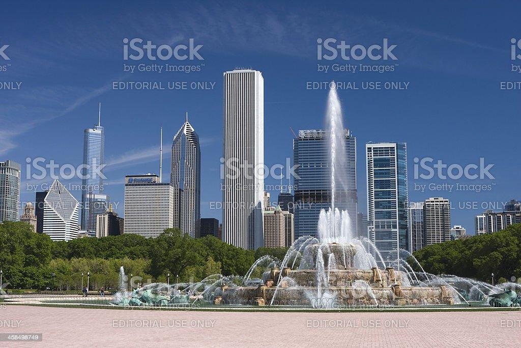 Chicago's Buckingham Fountain stock photo