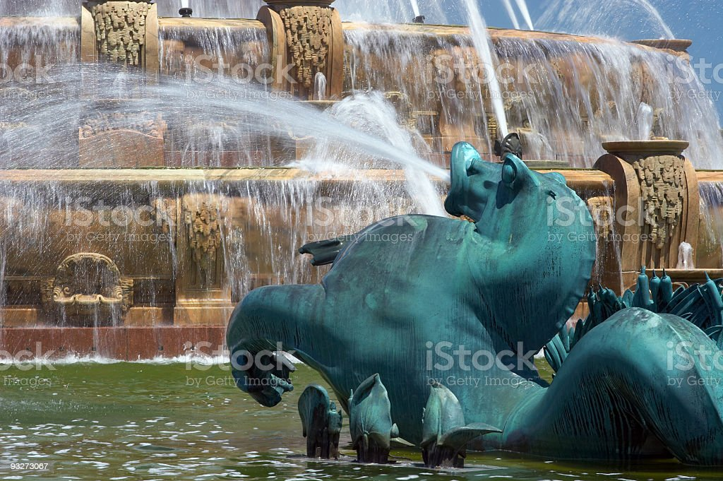 Chicago's Buckingham Fountain royalty-free stock photo