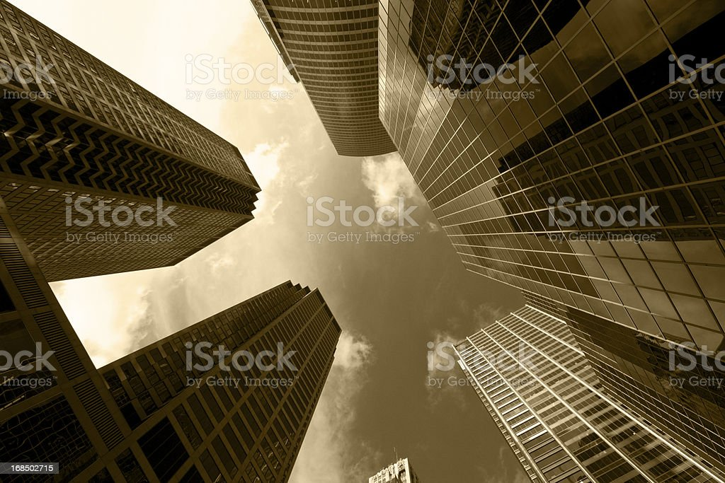Chicago's buildings royalty-free stock photo
