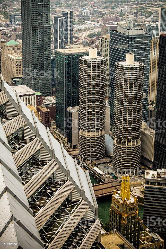 Chicago's Iconic Marina Towers stock photo