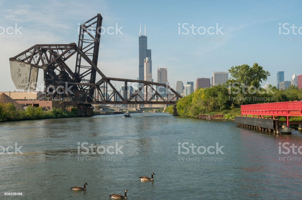 Chicago's Industrial Architecture stock photo