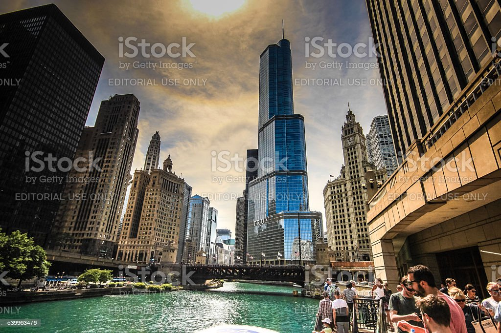 Chicago's legendary Architecture Tour stock photo