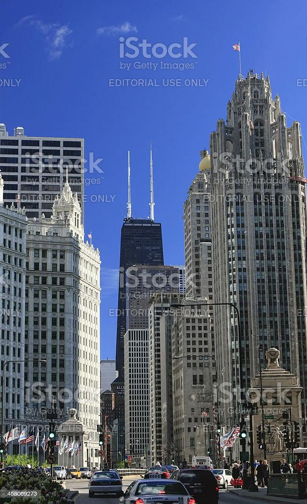 Chicago's Magnificent Mile stock photo