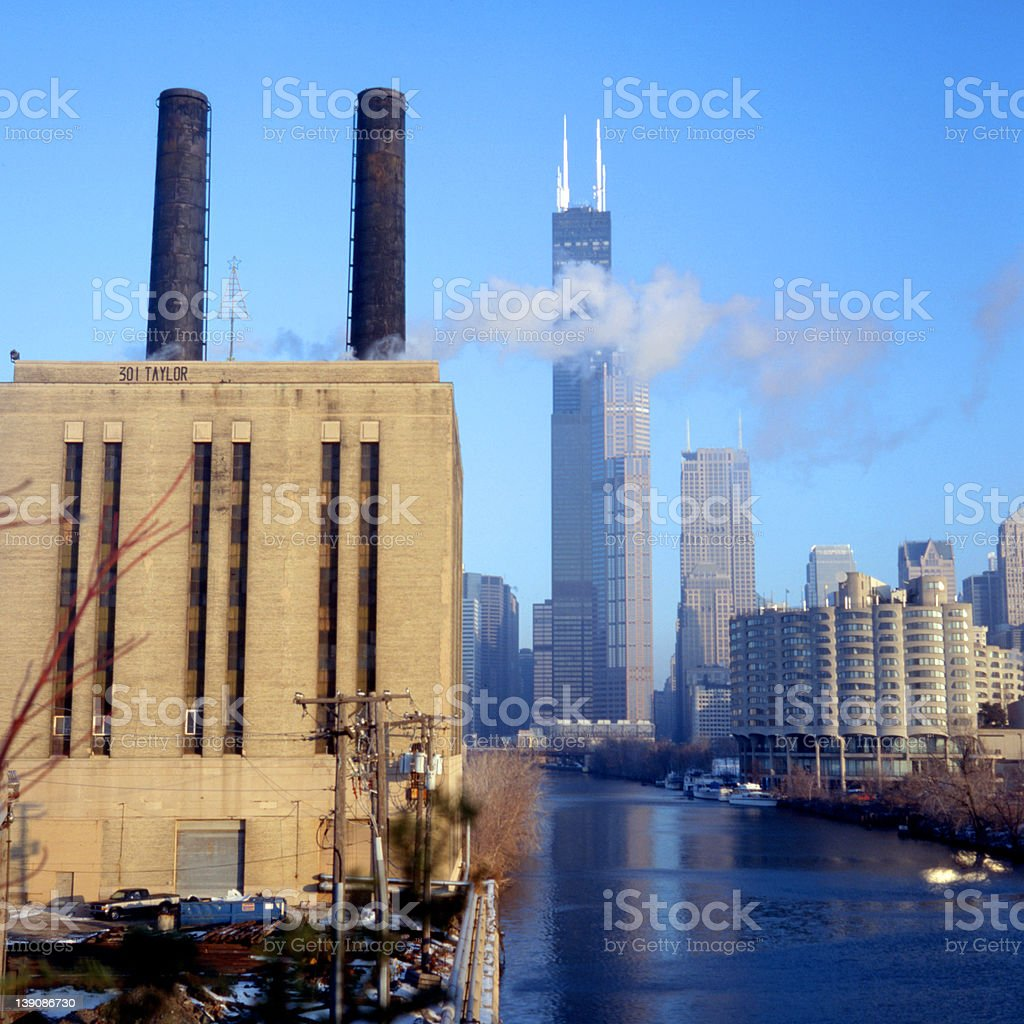 Chicago's South Loop stock photo