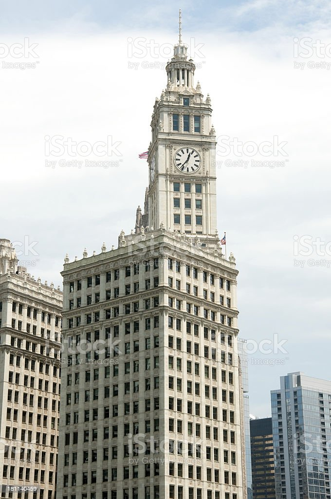 Chicago's Wrigley Building royalty-free stock photo