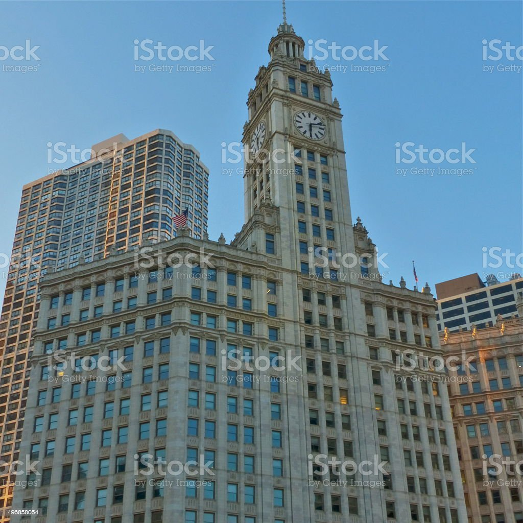 Chicago-Wrigley Building, architecture stock photo