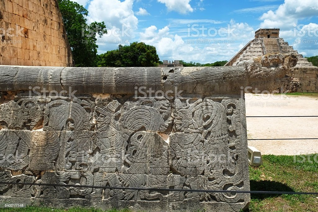 Chichen Itza Ball Court View stock photo