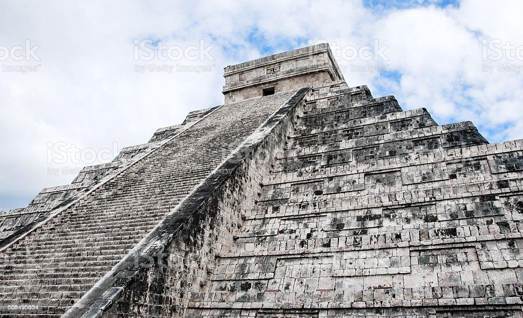 Chichen Itza: El Castillo / Kukulkan Pyramid. stock photo