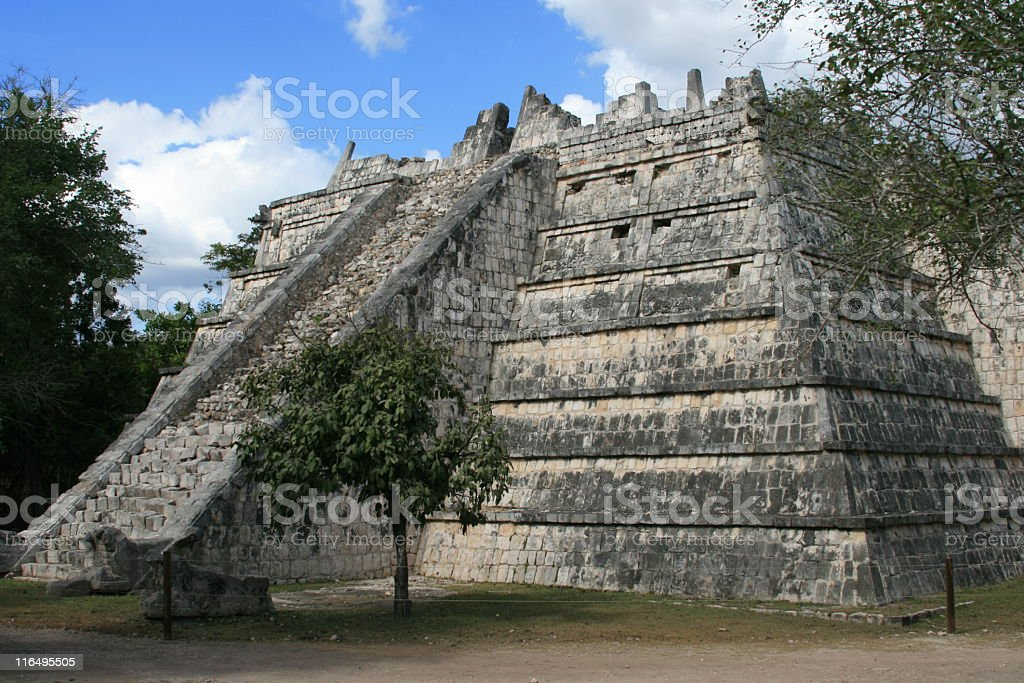 Chichen Itza. High Priest Temple. royalty-free stock photo