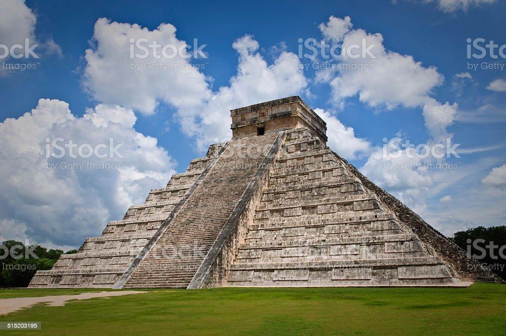 Chichen Itza Kukulkan Pyramid stock photo