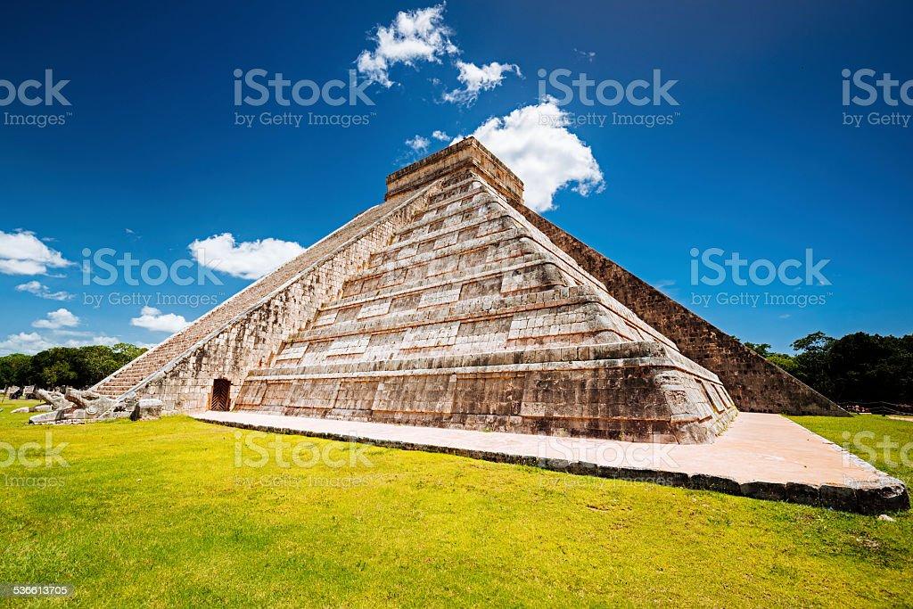 Chichen Itza Maya Pyramid of Kukulcan Mexico stock photo