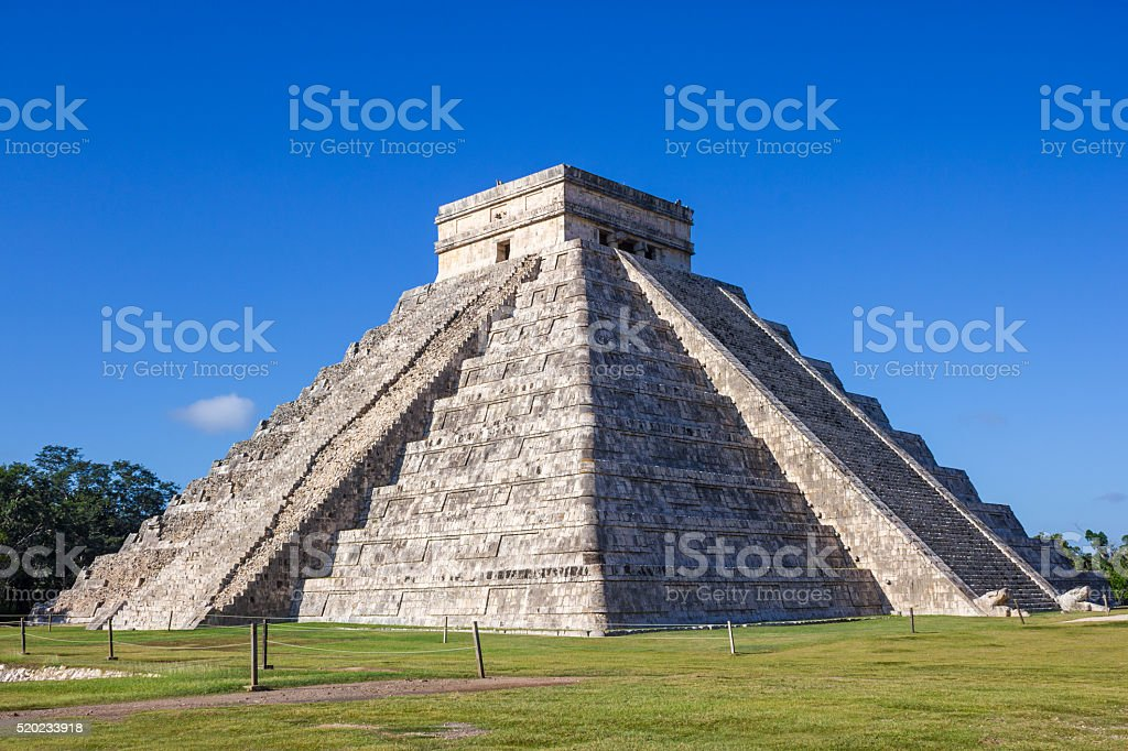 Chichen Itza Mexico El Castillo Pyramid stock photo