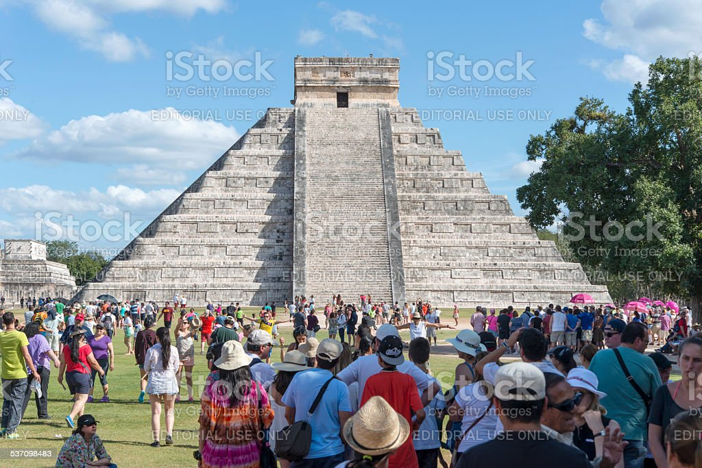 Chichen Itza, one of the most visited sites in Mexico stock photo
