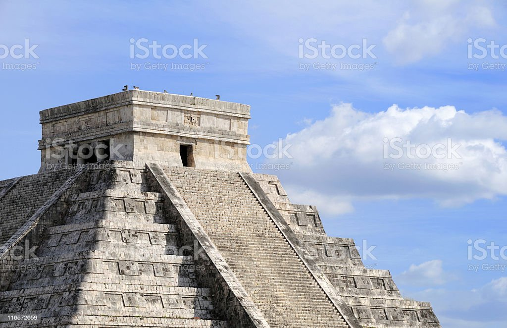 Chichen Itza Pyramid royalty-free stock photo