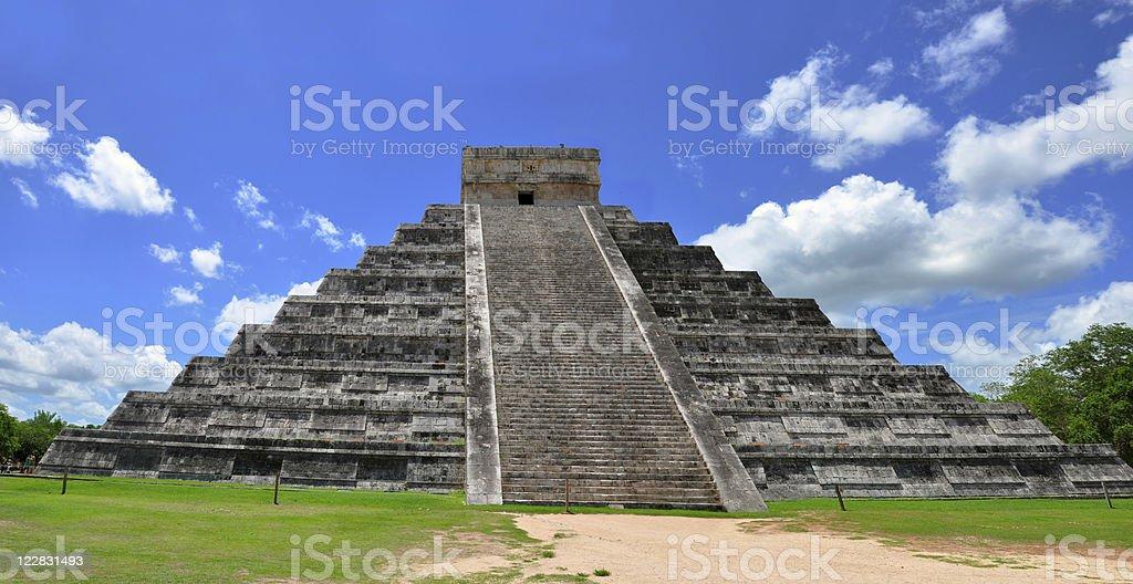 Chichen Itza Pyramid, Wonder of the World, Mexico royalty-free stock photo