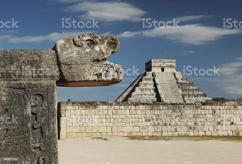 Chichenitza ruins stock photo