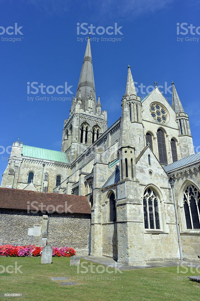 Chichester Cathedral and Grounds royalty-free stock photo