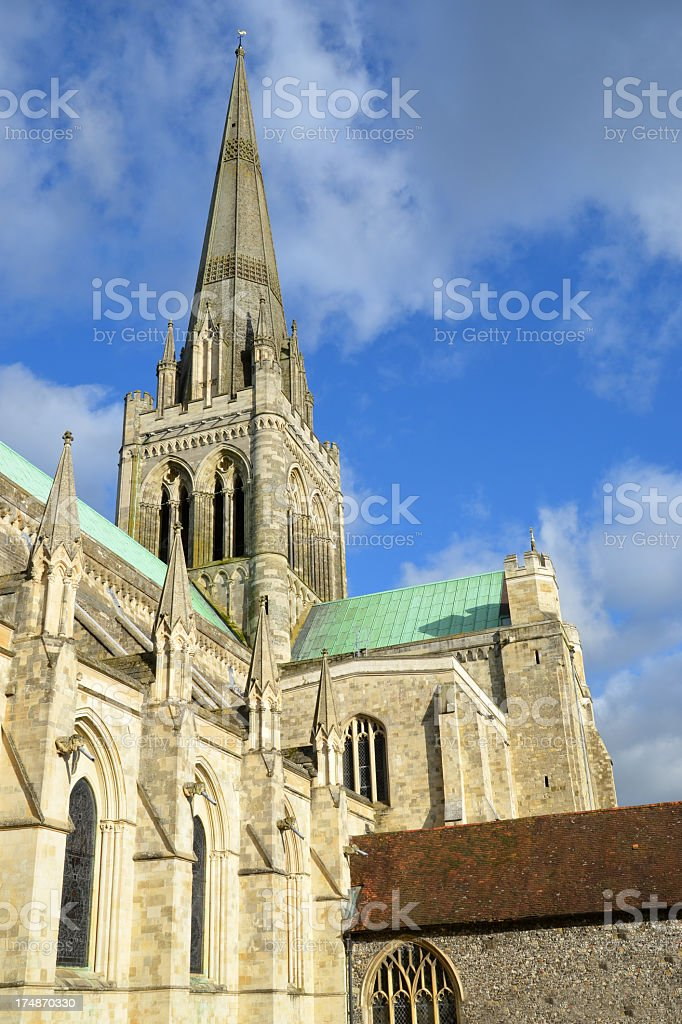 Chichester Cathedral Spire royalty-free stock photo