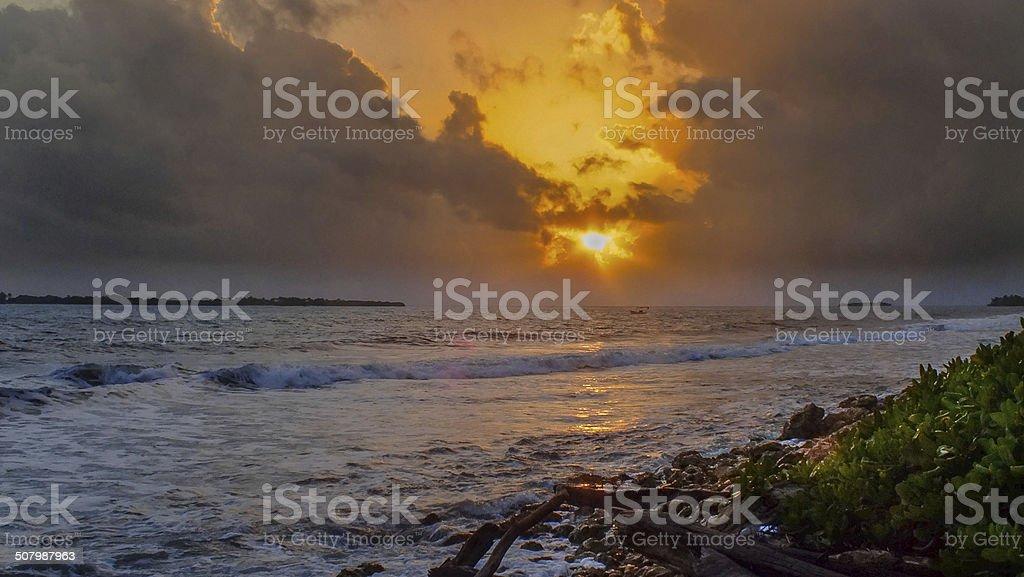 Chichiriviche Sunrise stock photo