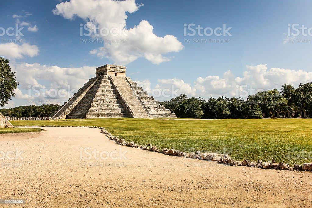 Chichén Itzá Kukulkán Pyramid stock photo