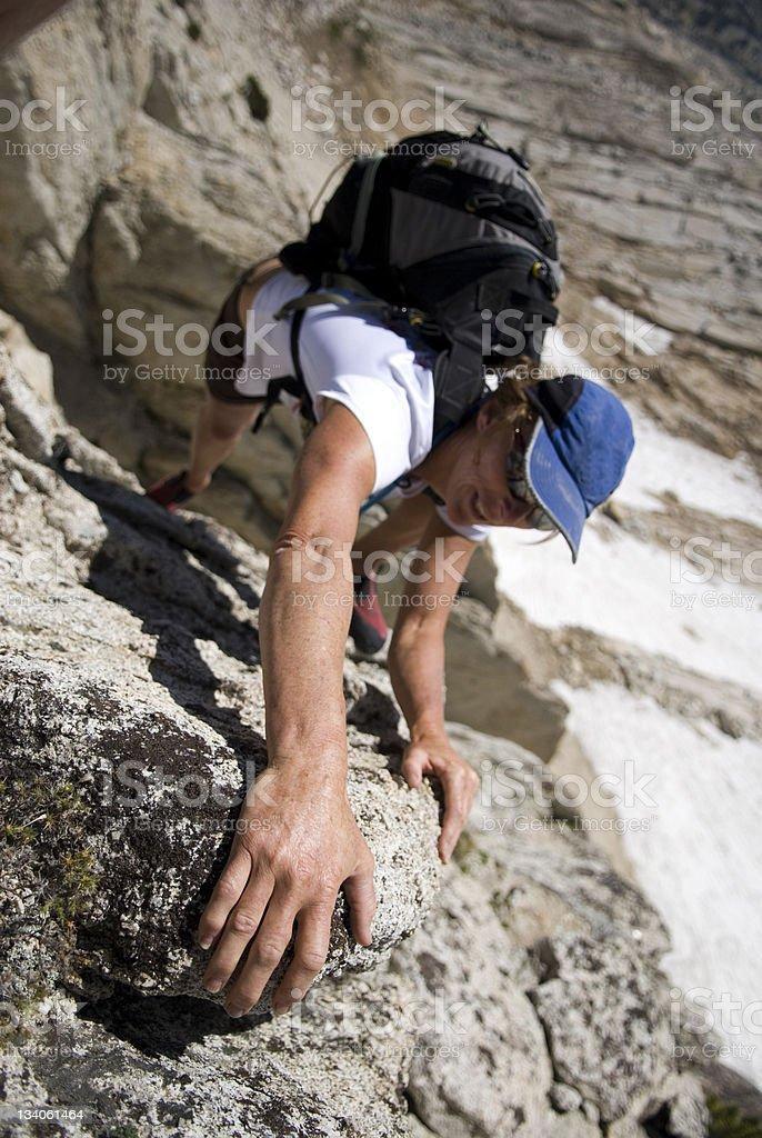 chick climber royalty-free stock photo
