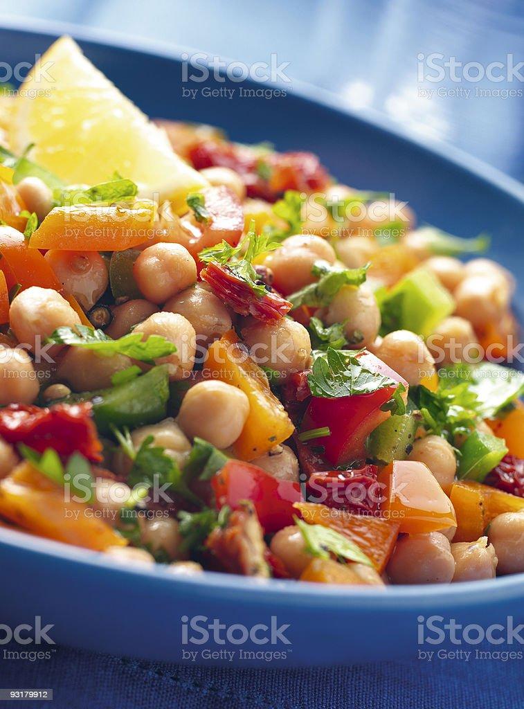 Chick Pea Salad royalty-free stock photo