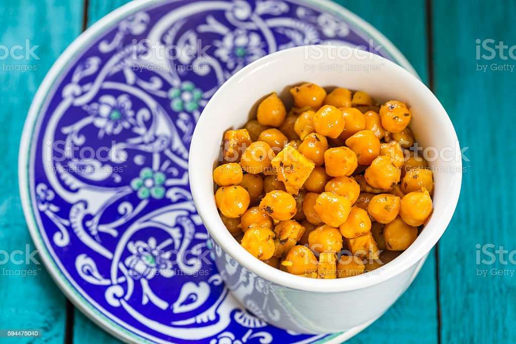 Chick Peas with Different Spices stock photo