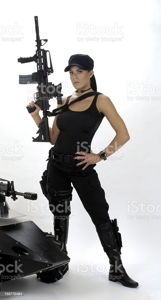 SWAT Chick royalty-free stock photo