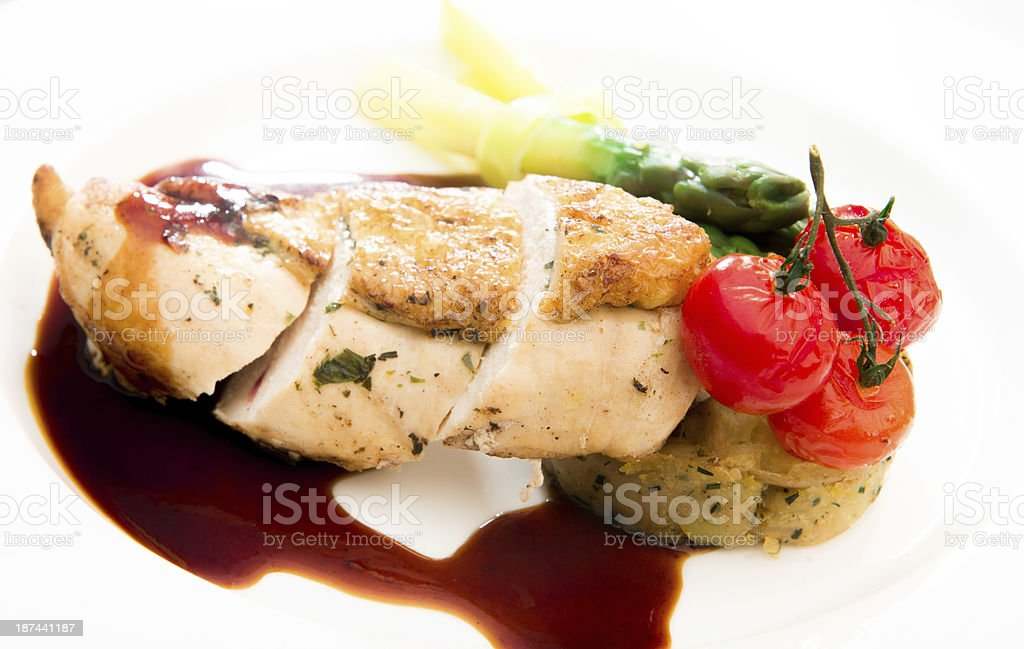 Chicken and Asparagus royalty-free stock photo