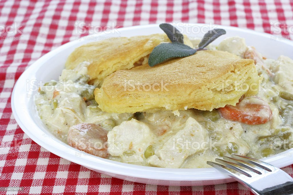 Chicken and Biscuits Dinner royalty-free stock photo