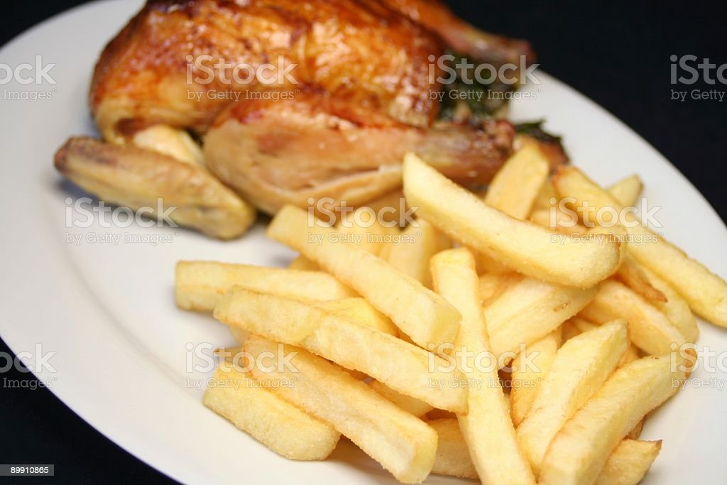 Chicken and Chips royalty-free stock photo
