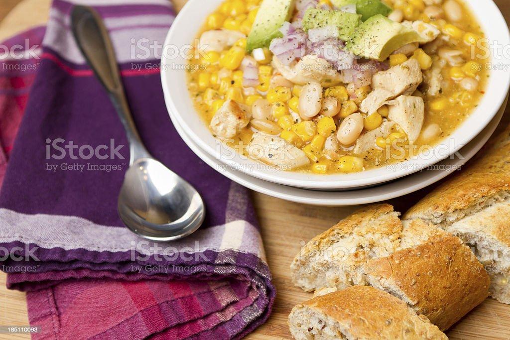 Chicken and Corn White Chili royalty-free stock photo
