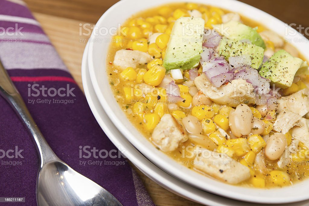 Chicken and Corn White Chili royalty-free stock photo