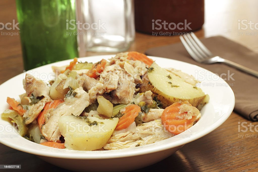 Chicken and Potato Stew stock photo