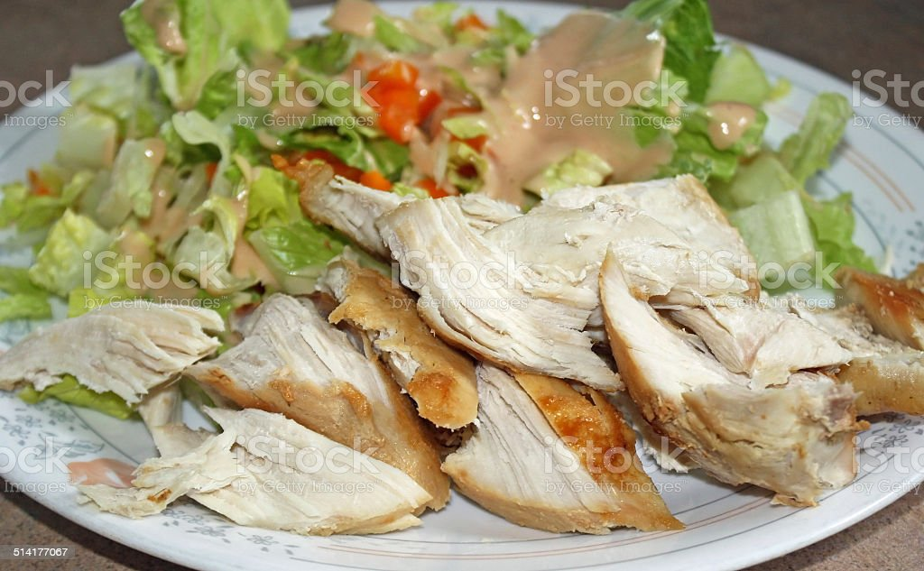 Chicken And Salad Diet Plate stock photo