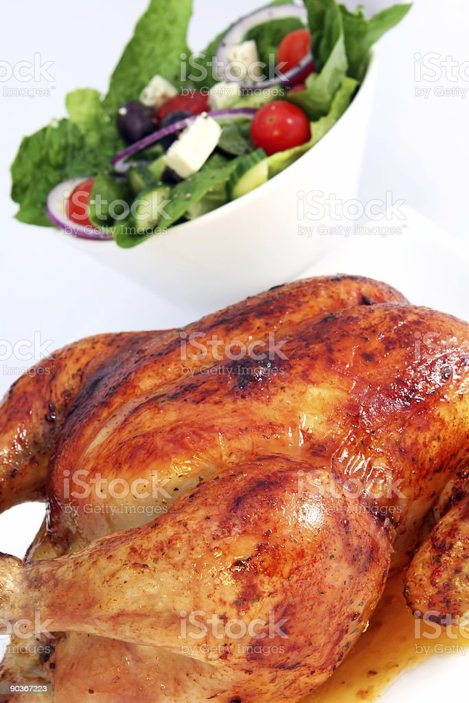 Chicken and Salad royalty-free stock photo