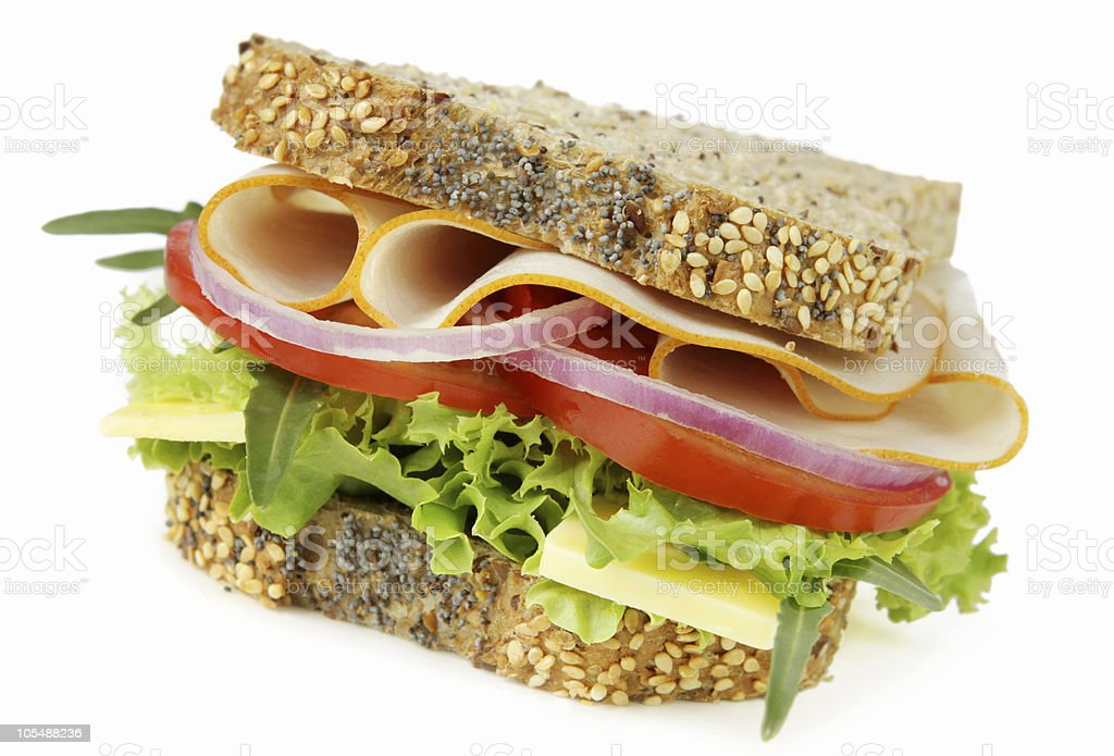 Chicken and Salad Sandwich royalty-free stock photo