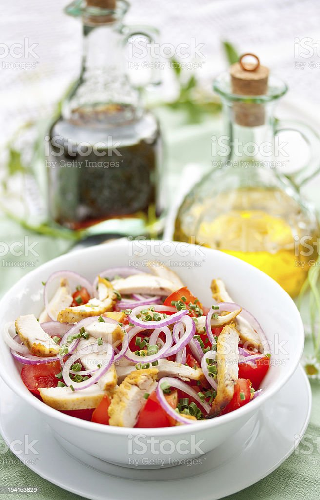 Chicken and Tomato Salad royalty-free stock photo