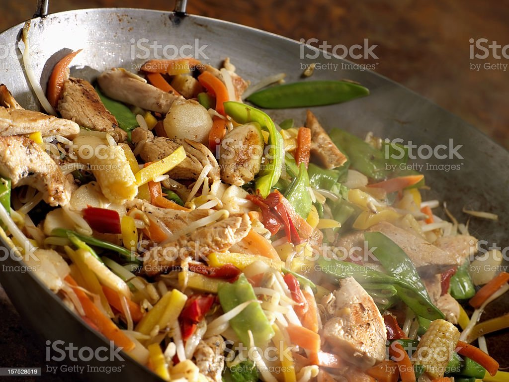 Chicken and Vegetable Stir Fry stock photo
