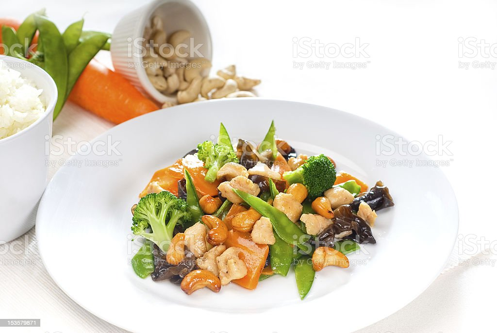 chicken and vegetables royalty-free stock photo