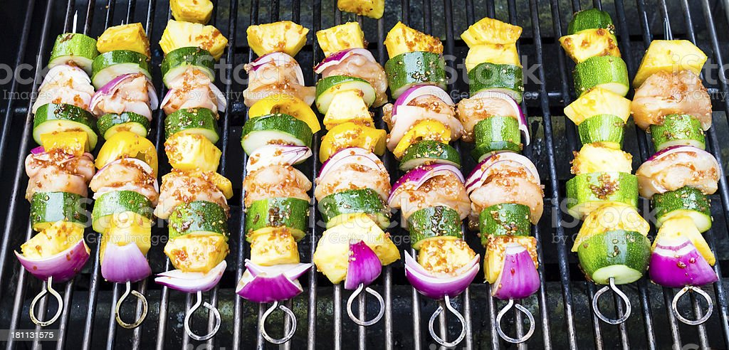 Chicken And Veggies For Grillin' royalty-free stock photo