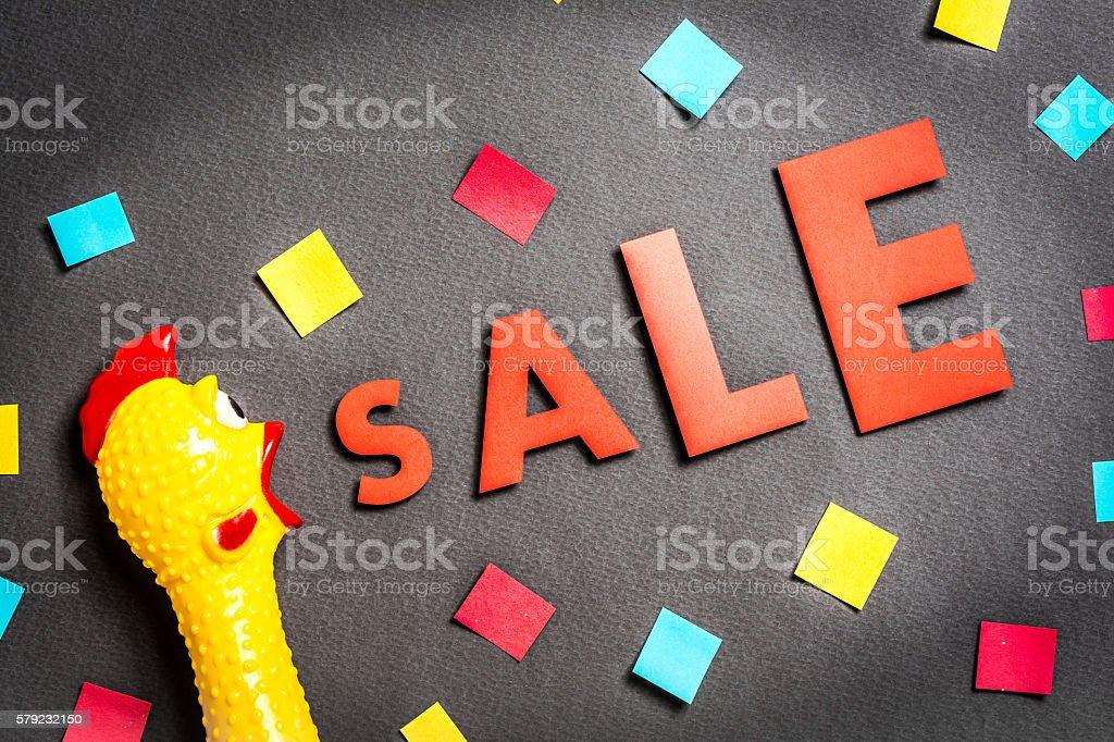 Chicken announcing hot sale season stock photo