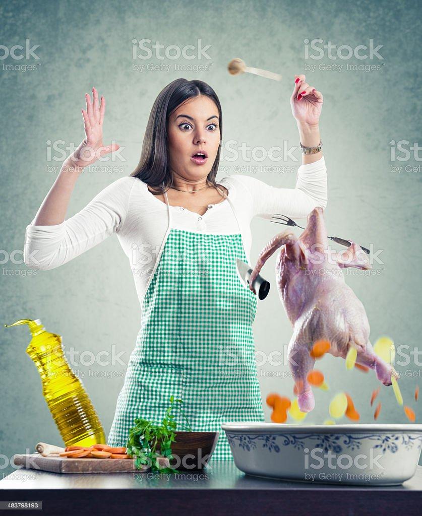 Chicken Attack stock photo