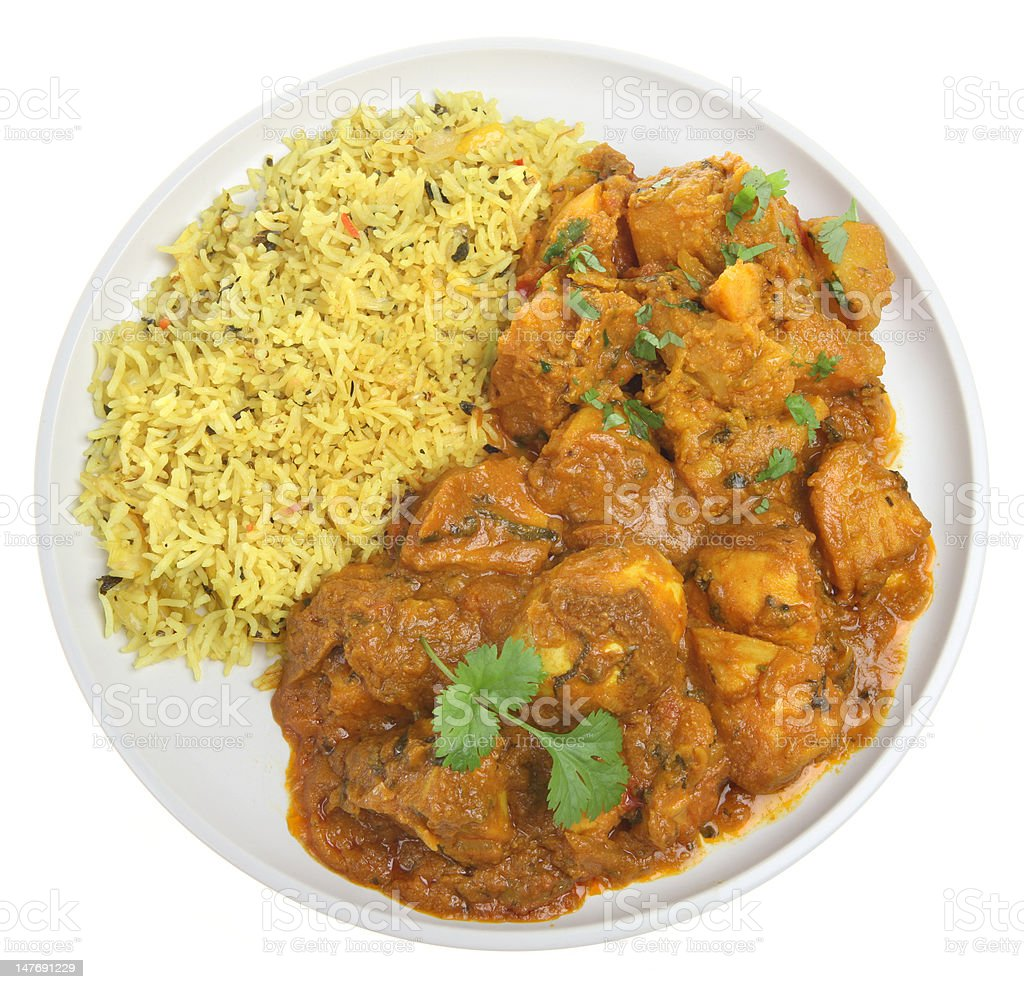 Chicken Bengal Curry stock photo